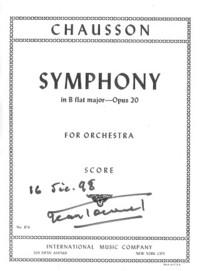 Chausson, Symphonie