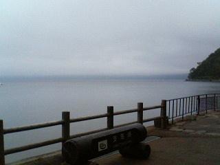 霧の支笏湖